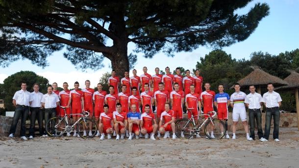Presentación del equipo francés. Foto: equipe-cofidis.com/