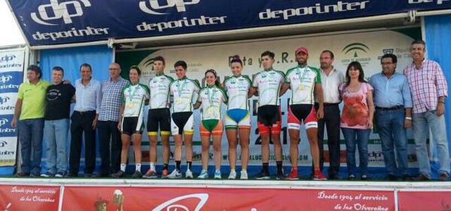 Campeones cadete, júnior, sub 23 y élite en el Campeonato de Andalucía de carretera disputado en Olvera
