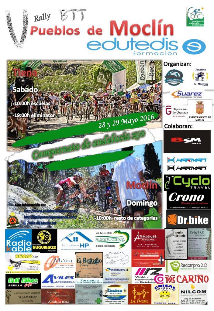 Cartel Campeonato de Andalucia XCO y Eliminator 2016